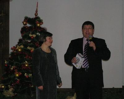 Віктор Довганич і голова комітету багатодітних матерів Софія Бурденюк