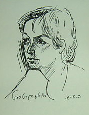 Бейлі Шехтер-Готсман. Автопортрет. Репродукція з книги «Кам'яні стіни». 1972