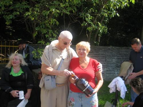 А. Єзерська з колегою П. Пазюком