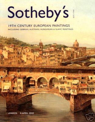 Обкладинка каталогу Sothebys за квітень 2002 року
