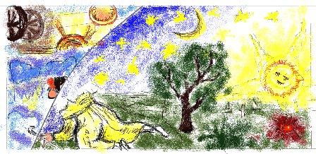 Копія гравюри Фламмаріона. Автор - Вікторія Угорська