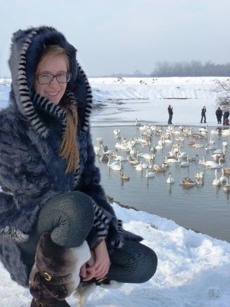Анастасія Репецька кожного року приїздить допомогти птахам