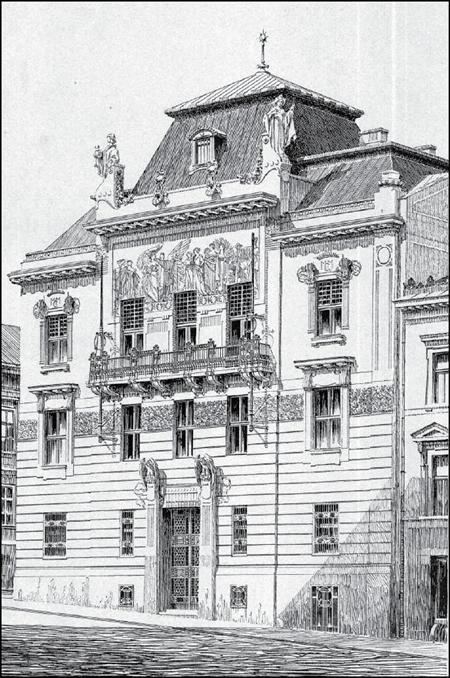 Ощадна каса у Чернівцях. Літографія.1903 р