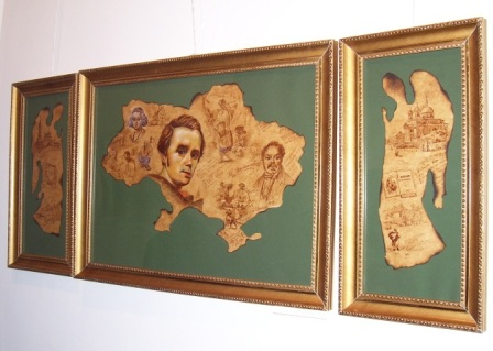 """Олена Косiнська, """"Наш Шевченко"""", триптих, 2010"""