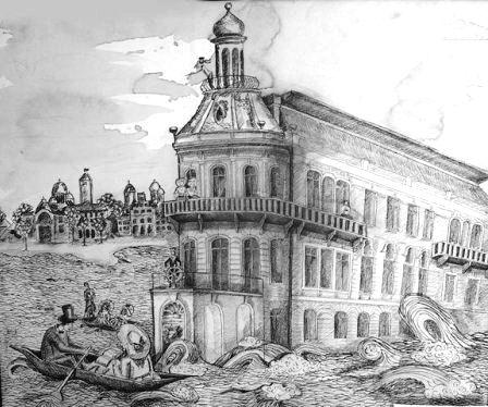 будинок корабель малюнок Катерини Цигикало