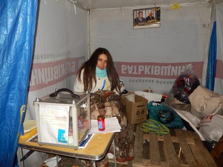 Волонтер чернівецького євромайдану