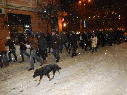 Майданівський пес теж супроводжував ходу...