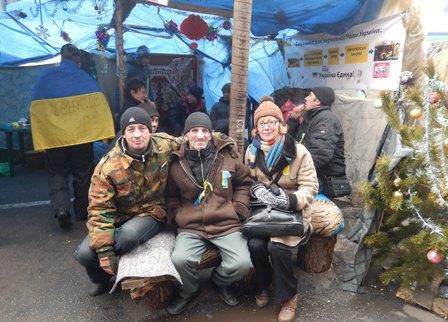 """Київ. Майдан. 31.12.2013. Намет """"Буковина"""""""