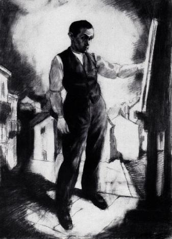 Бруно Шульц. Автопортрет у станковому живописі. 1920. (фото з сайту http://brunoschulz.eu)