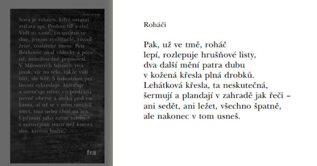 Milostné básně, Petr Borkovec, з сайту Kosmas - Vaše internetové knihkupectví
