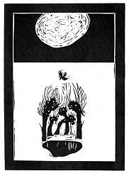 Тиша. 2000. Папір, лінорит. Ілюстрація до книги Н. Мизака «За тебе, свята Україно».