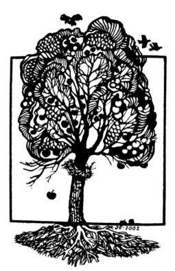 Вічне. 2002. Папір,  лінорит. Ілюстрація до книги Н. Мизака «За тебе, свята Україно».