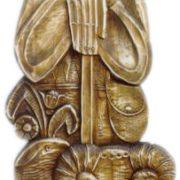 Я. Полатайко. Декоративний пласт «Вівчар». Дерево, різблення, 1981.