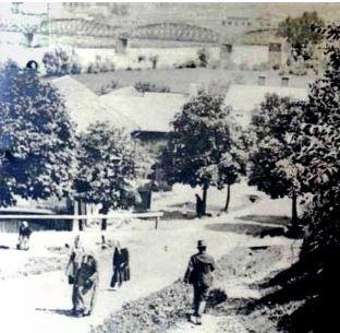 Вид на арковий міст з чернівецької вулиці. Фото до 1914 р.