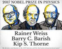 Нобелівську премію з фізики у 2017 року отримають Райнер Вайс, Баррі К. Бариш та Кіп С. Торн