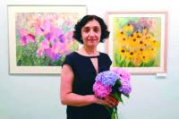 Художниця Лариса Куваєва прийшла до читачів зі своєю виставкою